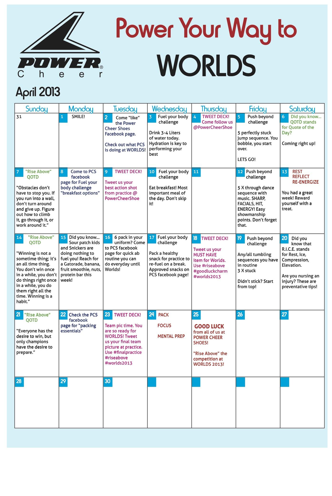 Results Calendar April : Jnl fusion workout calender free hd wallpapers
